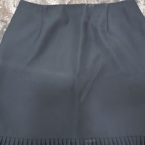 Style & Co. Black lined pleated back zipped skirt